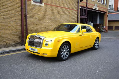 yellow rolls royce yellow rolls royce phantom coupe topaz detailing london