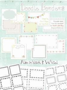 printable doodle borders labels by inktreepress world With editable blogger templates free