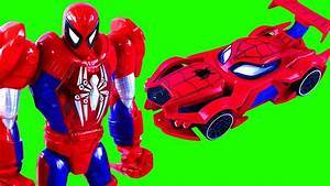 Toy Spiderman Toys Robot And Spiderman Web Car