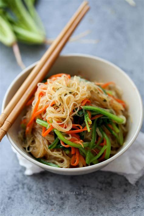 how to cook mung bean noodles bean thread noodles salad china sichuan food