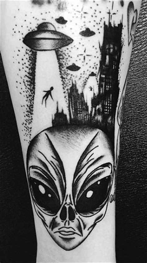 100 UFO Tattoo Designs For Men - Alien Abduction Ink
