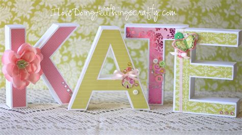 paper letters  kate  paper paper crafts crafty