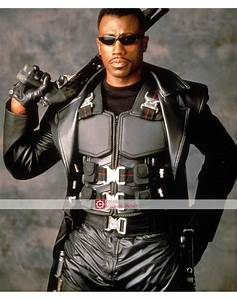 Blade Movie Wesley Snipes Black Trench Leather Coat