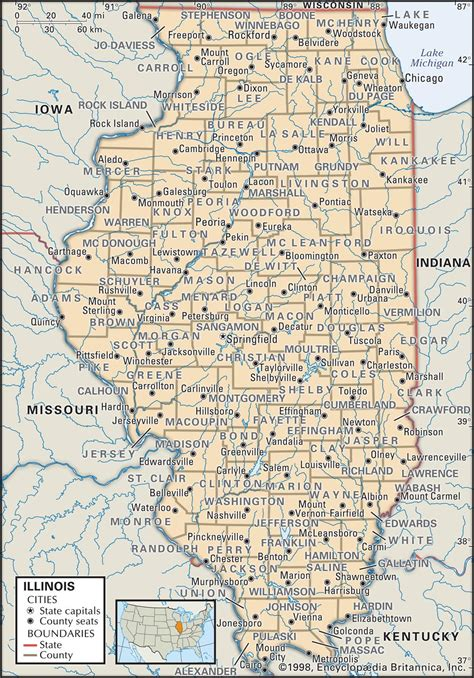 state  county maps  illinois