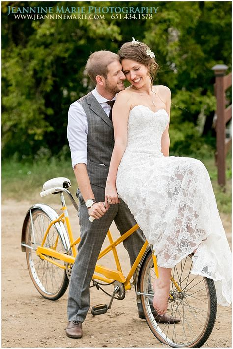 Bride And Groom On Bike Bride And Groom Poses Outdoor