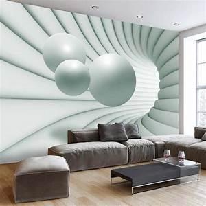 L Steine Streichen : papier peint 3d cr ant un effet abstrait et trompe l il saisissant design feria ~ Frokenaadalensverden.com Haus und Dekorationen