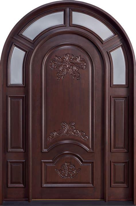 front door custom single   sidelites solid wood  dark mahogany finish heritage