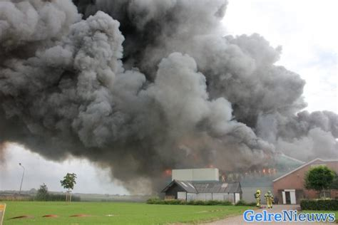 Grote Brand In Varkensschuur 20000 Varkens Omgekomen