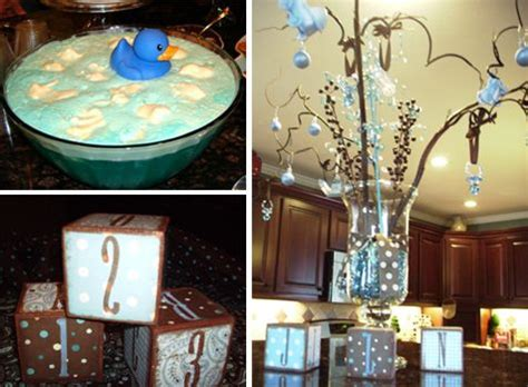 brown and baby blue baby shower decorations image detail for baby shower get blue and