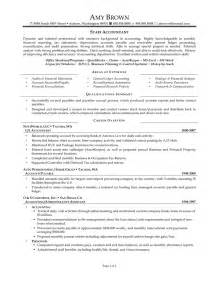 sle resume areas of expertise senior accountant resume sles sle staff accountant resume objective resume exles staff