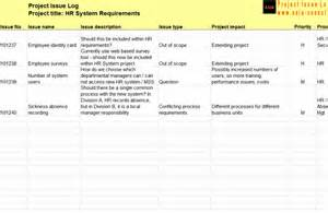 Issue Tracking Template Excel Issue Log For Software System Selection Project