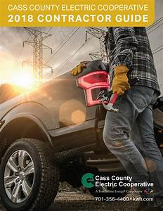 2018 Contractor Guide By Cass County Electric Cooperative