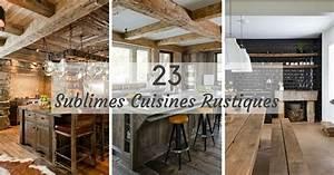 cuisine rustique 23 idees inspirations photos With idee deco cuisine avec cuisine rustique