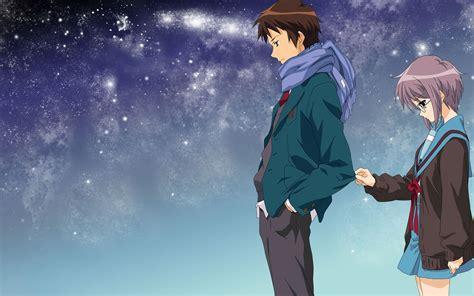 sweet couple anime wallpaper  wallpapersafari