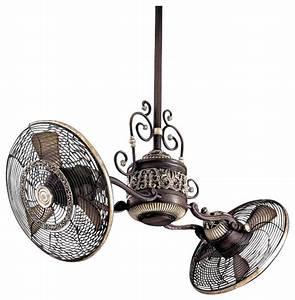 Ceiling amusing dual motor fan double