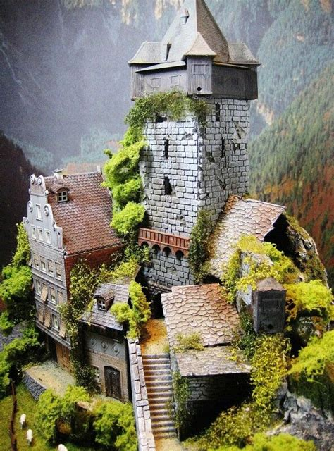 castle diorama model train layouts diorama building
