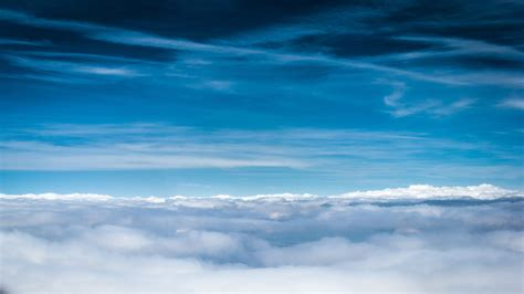 Wallpaper For Air by Wallpaper Clouds Sky Blue Shades Lines Air