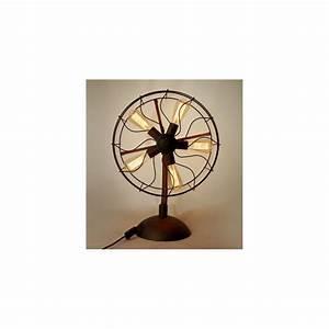 industrial retro edison fan table lamp by vitra design With edison fan floor lamp