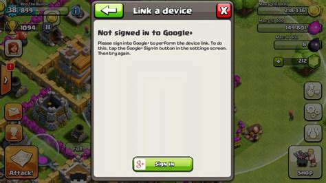 error with play store and clash of clans