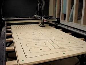 CNC plywood furniture timelapse SIUC - YouTube