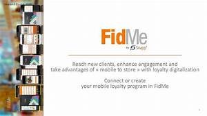 2015/08 - FidMe - General overview (Loyalty cards ...
