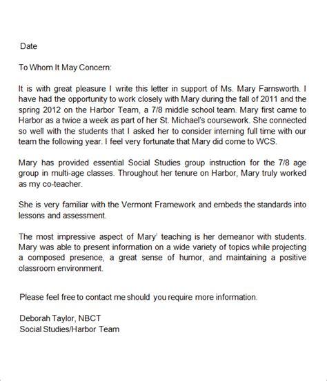 letters  recommendation  teacher sample