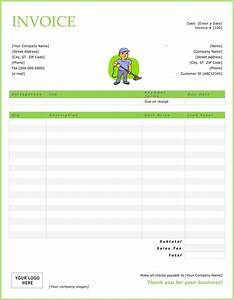 Top 21 free cleaning service invoice templates demplates for Cleaning invoice template