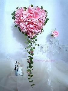 Bouquet Fleur Mariage : bouquet de mari e rose en forme de coeur perle rose fleur ~ Premium-room.com Idées de Décoration