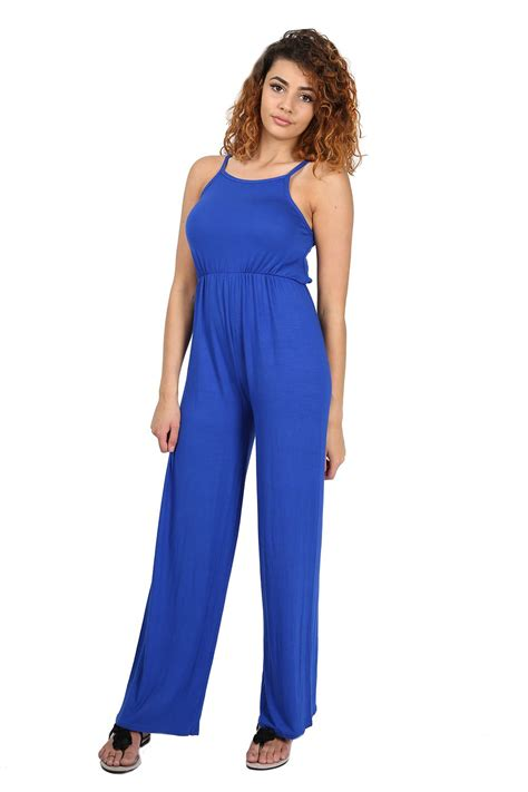 wide leg jumpsuit plus size womens all in one cami wide leg palazzo playsuit
