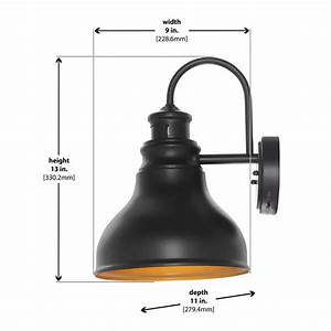 Oil Rubbed Bronze Outdoor Led Motion Sensor Wall Lantern