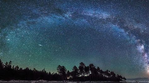 Beautiful Starry Night Sky Wallpaper Desktop Background