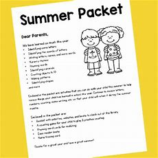 Prek Summer Packet Prekinders