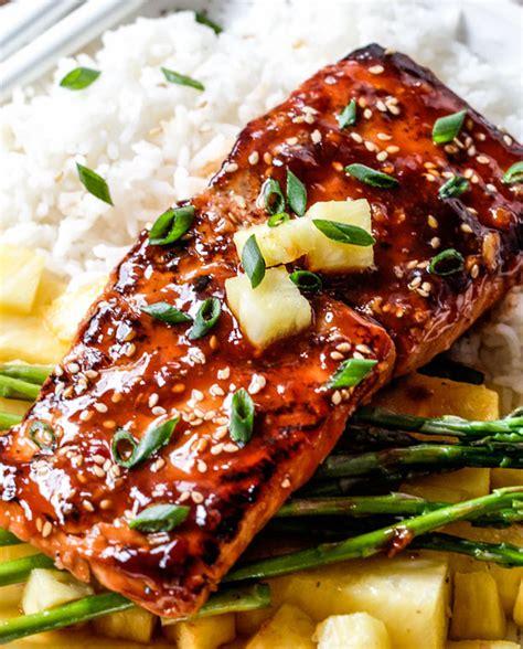 recette de cuisine asiatique recette facile de filets de saumon à la sauce bbq thaïlandaise