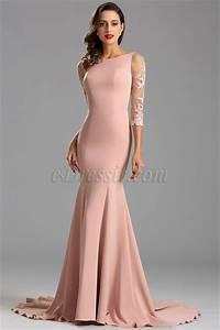 robe de soiree manche midi sirene dentelle decollete sexy With floryday robes de soirée
