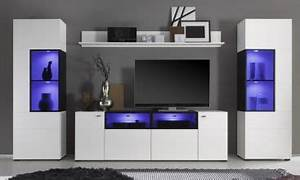 Meuble Tv Complet : ensemble meuble tv complet a led blanc alex meuble et d co ~ Teatrodelosmanantiales.com Idées de Décoration