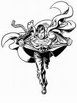 Superman Coloring Steel sketch template