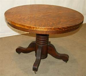 Antique round table and chairs antique furniture for Round pedestal coffee table antique