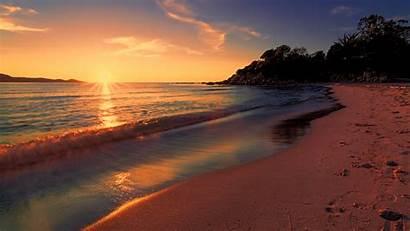 Sunset 4k Beach Sea Sunlight Exposure Wallpapers