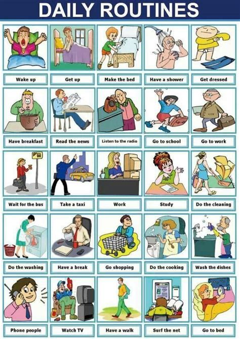 Esl On Pinterest  Daily Routines, Body Parts And Esl