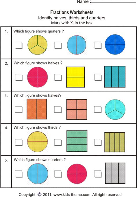 fractions quarters worksheets pizza fraction worksheets