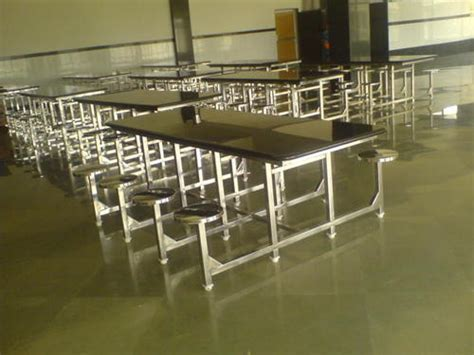 Industrial Stainless Steel Dining Table With Granite Top