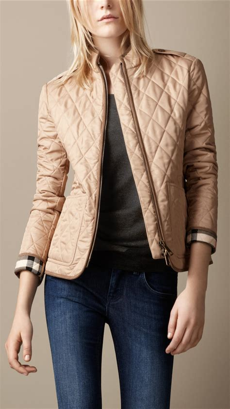 s burberry quilted jacket lyst burberry brit quilted jacket in