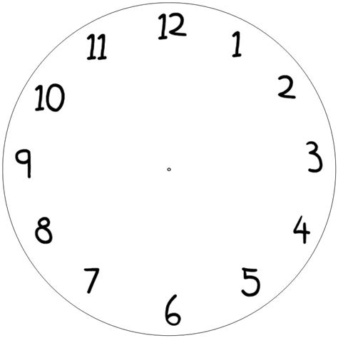 blank clock template clipart panda  clipart images