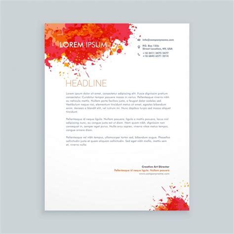 red ink splash letterhead vector