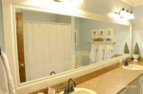 Large Bathroom Mirror Frame by Large Framed Mirrors For Bathrooms Decor Ideasdecor Ideas