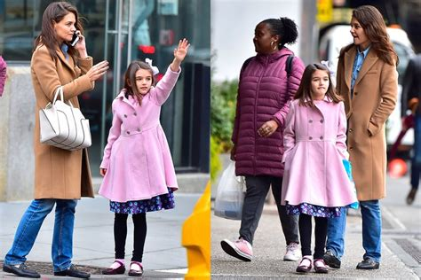 Katie Holmes And Suri Cruise Wear Matching Motherdaughter
