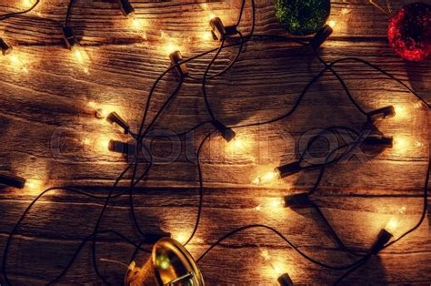 Christmas Rustic Light Bulb Background ...