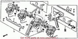 Honda Cb1000c 1000 Custom 1983  D  Usa Carburetor  Assy