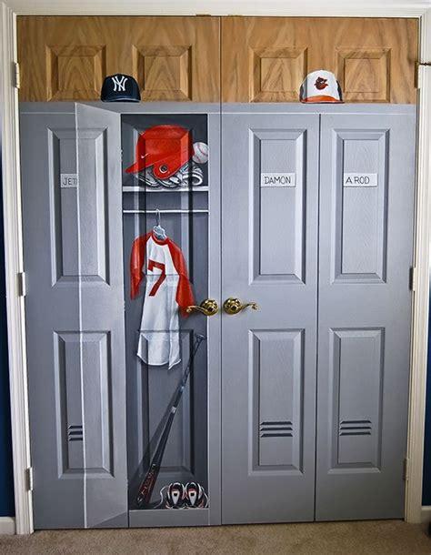 painted locker for closet door mural tariq room