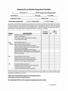 Electrical Inspection Checklist